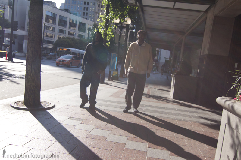 Seattle Street photography morning traffic