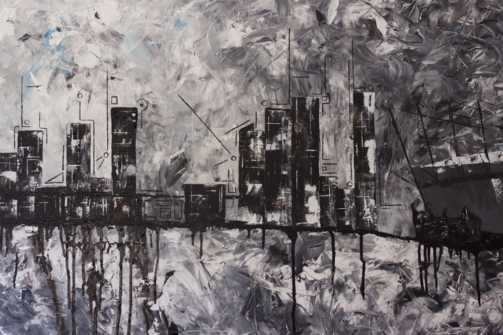Vancouver Skyline Painting Explored by Ned Tobin