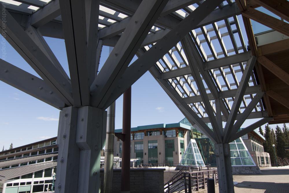 University of Northern British Columbia architecture Winter Garden / Agora