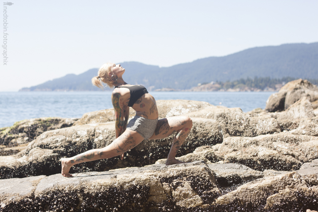 Chvse North - Ned Tobin - rocky shoreline asana yoga