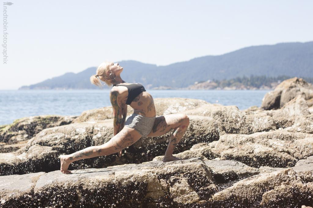 Chvse North - Ned Tobin - rocky shoreline asana yoga