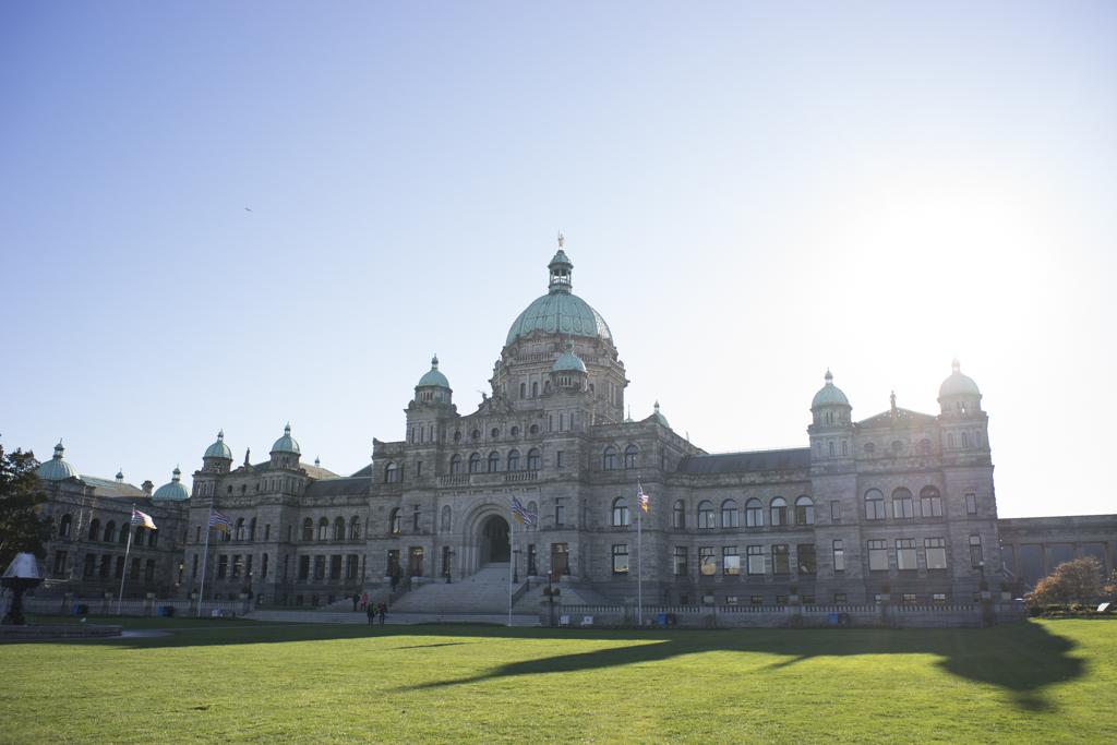 Parliament Buildings in Victoria, BC