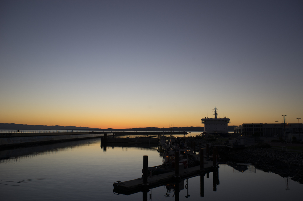 Sunset at The Breakwater at Victoria Harbour, BC