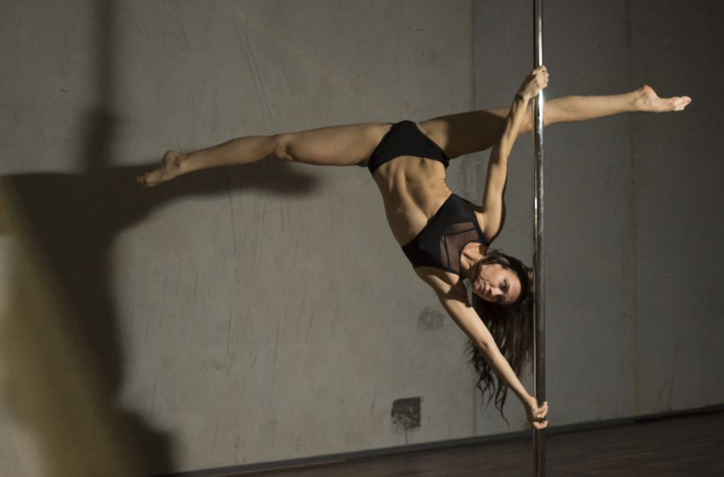 Pole dancer and instructor Leiah Luz of Vancouver, BC in Tantra Fitness