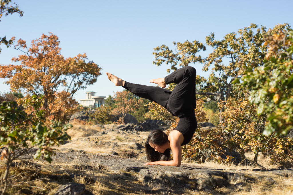 Sufey Chen doing Yoga in Victoria