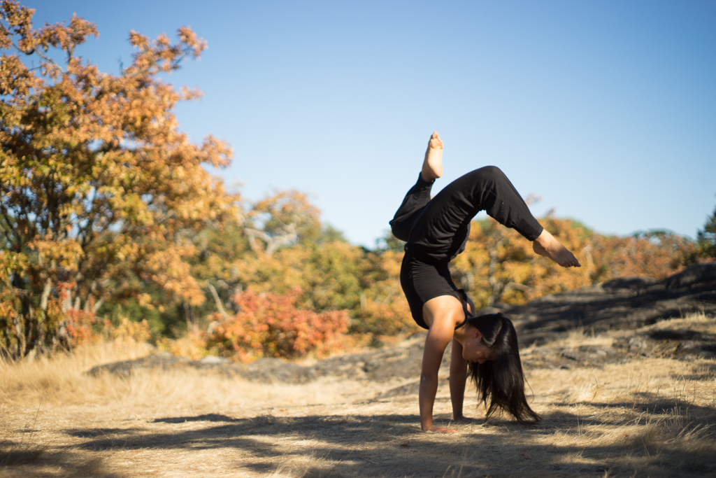 Sufey Chen doing Yoga in Victoria