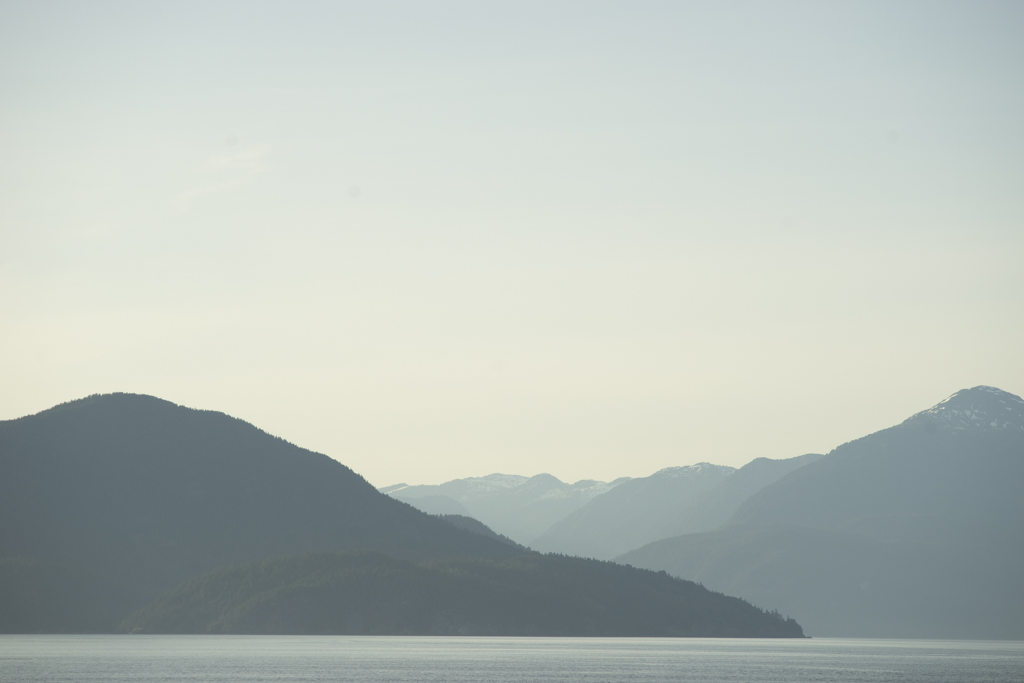 Strait of Georgia from a BC Ferry by Ned Tobin