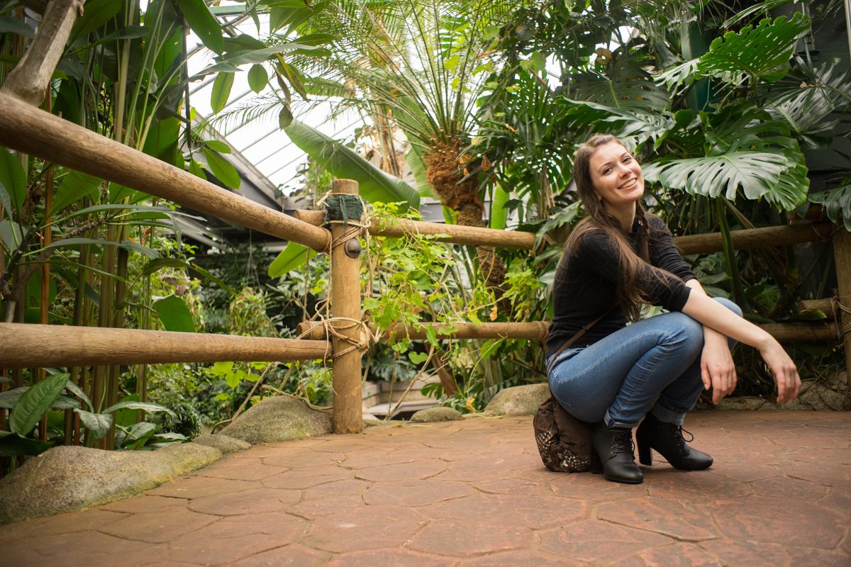 Tyna Kottová at the Butterfly Gardens - Ned Tobin