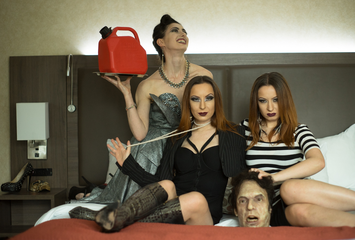 Soska Sisters and Tristan Risk by Ned Tobin
